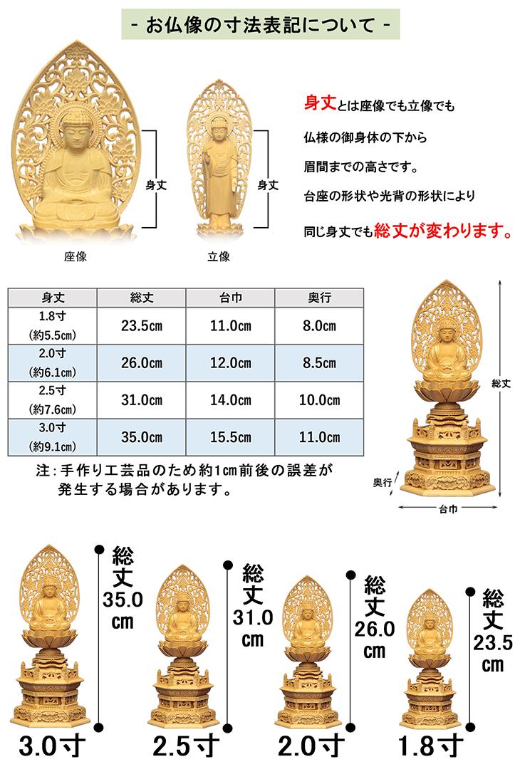 お仏像サイズ