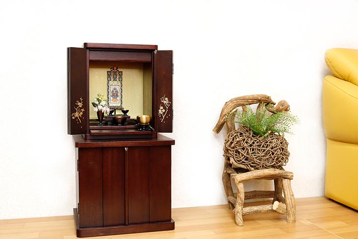 小さいミニ仏壇14号ブロッサム紫檀色-お仏壇デザイン