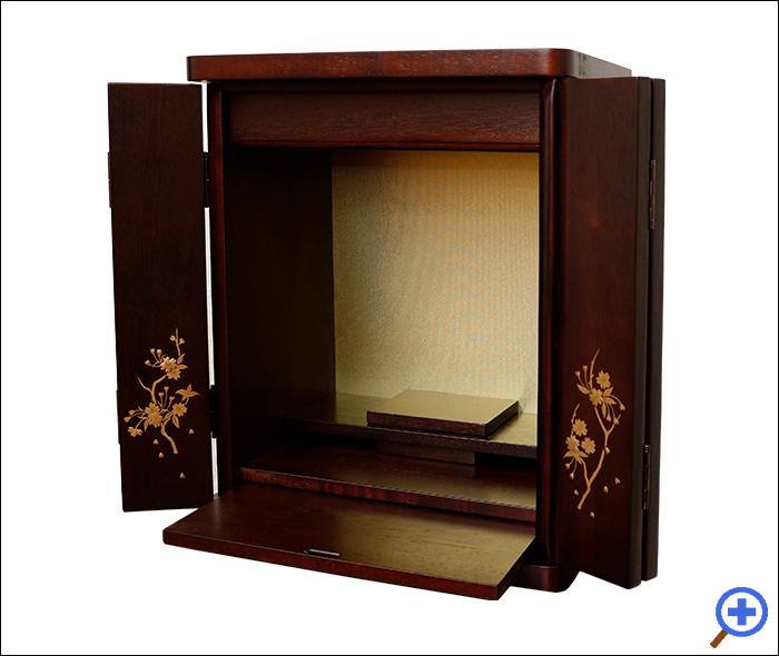 小さいミニ仏壇14号ブロッサム紫檀色-スライド